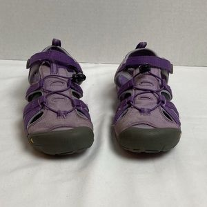 Keen purple waterproof outdoor trail sandals. 6